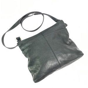 Margot Black Leather Crossbody Bag Anthro